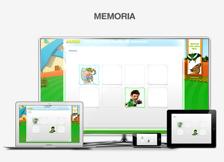 HTML5 Games - Tree Foo Tom Memory Game
